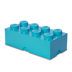 Room Copenhagen - LEGO Opbevaringskasse Brick 8 - Medium Azur