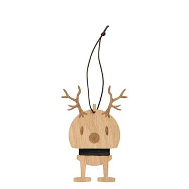 HOPTIMIST - Oak Medium Reindeer Ornament (2pcs)