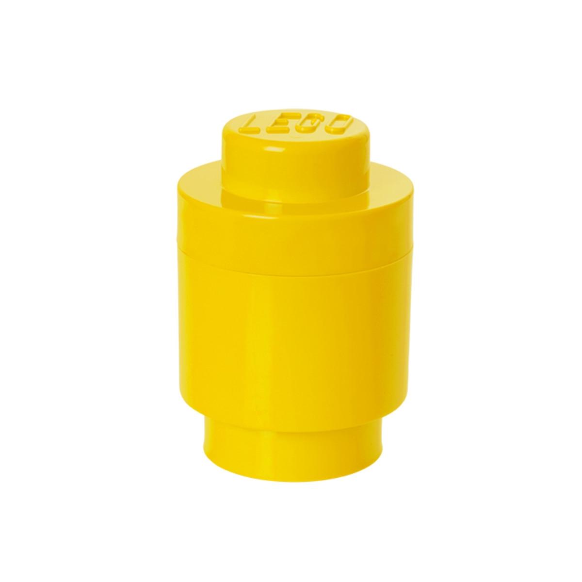 Lego Opbevaringskasse Storage Brick 1 Rund Gul